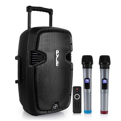 Portable Hi-Power Bluetooth PA Loudspeaker System with Rechargeable Battery