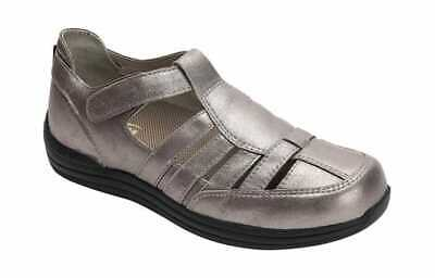cac0fedff9 Drew Women's Ginger Fisherman Shoe Dusty Pewter Leather Comfort Shoes