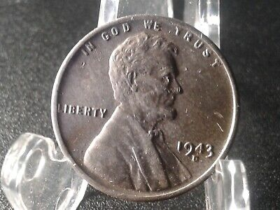 1943-D Lincoln Wheat Cent : One Penny Coin : #125 *Wartime Steel*