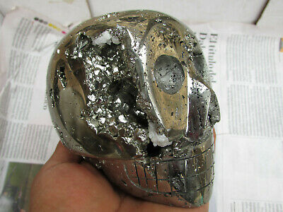 huge!!! Crystal skull pyrite
