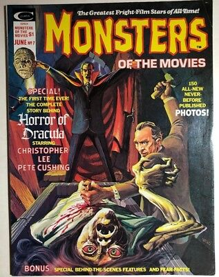 MONSTERS OF THE MOVIES #7 (1976) Marvel Comics B&W magazine FINE- White Mountain