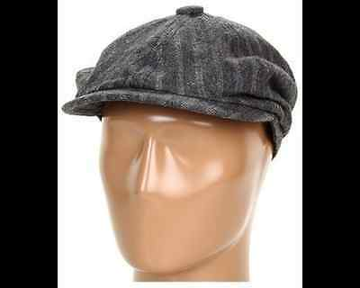 685cf1500e6 NEW Vtg COAL The NEWSIE HAT Cap NEWSBOY Cabbie WOOL Pinstripe MEN Women sz  SMALL