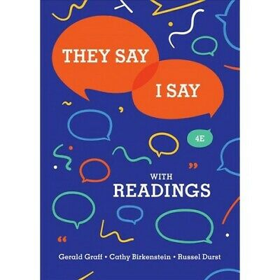 [PDF]🗨They Say I Say 4th Edition by Gerald Graff🗨📧⚡Fast delivery 📧⚡[EB00K]