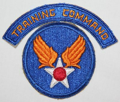 Original Wwii Aaf Training Command Arc W/ Army Air Forces Patch