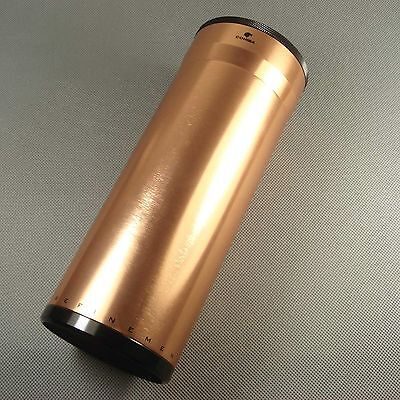COOL COHIBA Huge Rose Gold Color Metal Travel Cigar Tube Jar humidity CO033G
