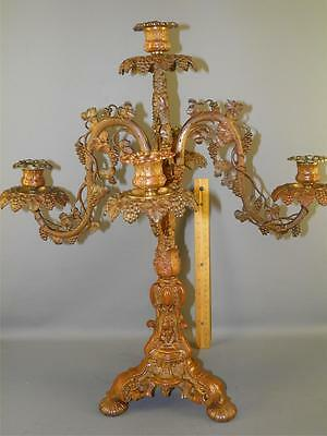 19thC ANTIQUE ROCOCO   Henry Hooper Co. VICTORIAN  BRONZE CANDELABRA CENTERPIECE