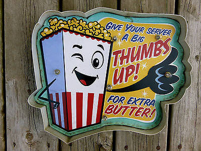 Vintage PIZZA SLICE Metal Sign Theater Bar Pool Machine Shop Snack Club City