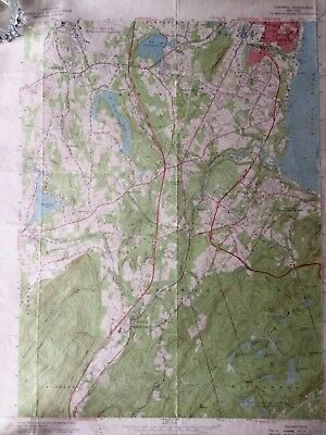 Vintage New York Topographical Map - Cornwall, N.Y. Newburgh & Hudson River 1957