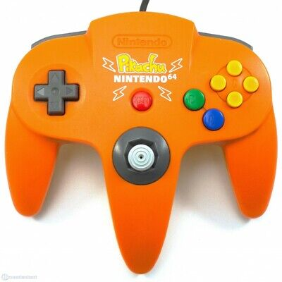 N64 - official Nintendo pad #orange-yellow Pikachu Edt. NUS-005 MINTed Joystick
