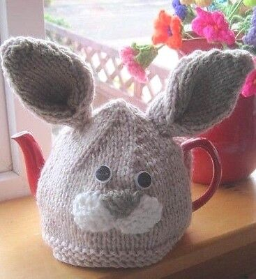 Hand Knitted Chunky Easter Tea Cosy. Fabulous Spring Bunny / Rabbit.