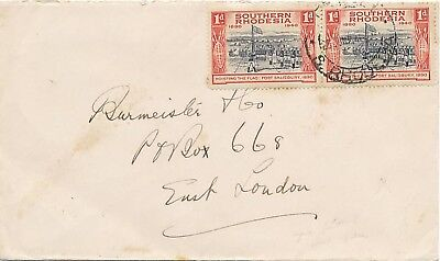 SOUTHERN RHODESIA 1940 50 years British South Africa Society 1 d. Salisbury Fort