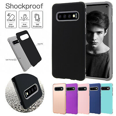 For Samsung S10 Plus S10e Case Shockproof Silicone Bumper Hard Heavy Duty Cover