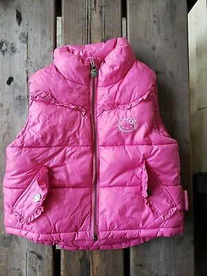 H&M Hello Kitty Pink Full Zip Puffer Vest Girls/Toddlers Size 2-3 Years