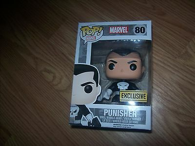 THE PUNISHER FUNKO POP #80 VHTF THE PUNISHER White and Black costume 1st one