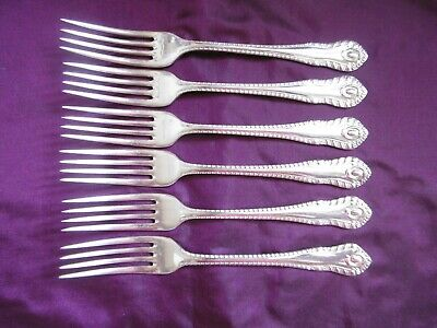 Lovely Set Of 6 George Butler Silver Plated Epns Gadroon Pattern Dinner Forks 2