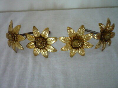 4 Antique French Large Gilt Picture Complete Hook Nail & Covers Cache Clous **