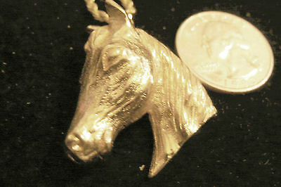 bling gold plated horse head show pendant charm hip hop chain necklace jewelry