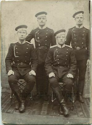 IMPERIAL RUSSIAN SOLDIERS in uniform antique cabinet photo - $25 00