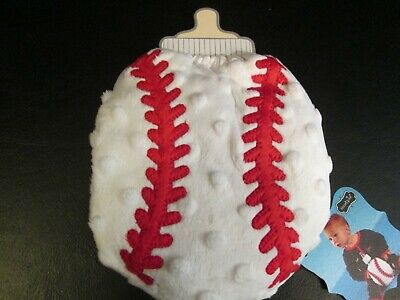 Baseball Bottle Cover by Mud Pie, White and Red, New