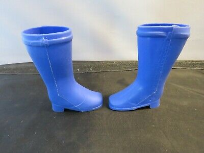 Vintage 1971 Ideal Crissy Grohair Blue Boots Shoes