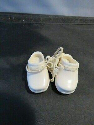 Vintage 1969 Ideal Crissy Grohair White Clog Shoes