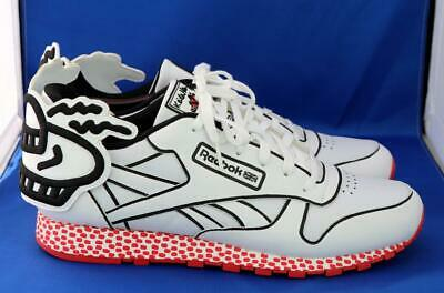 d16e42b371964 RARE Keith Haring x Reebok Classic Leather Low Lux 10.5 shoes kendrick lamar