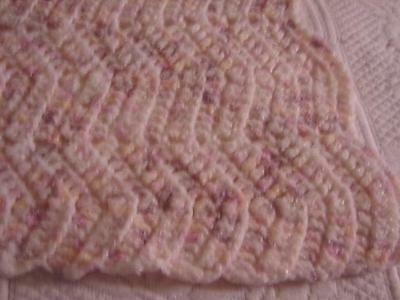 New Handcrafted Hand Crochet Baby Afghan Blanket  Pink Yellow Purple Throw