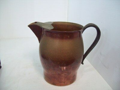 Vintage F.B. Rogers Silver Co. 1883 Copper Water Pitcher, Silverplate Removed
