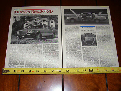 1978 Mercedes Benz 300Sd - Turbo Diesel - Original Vintage Article