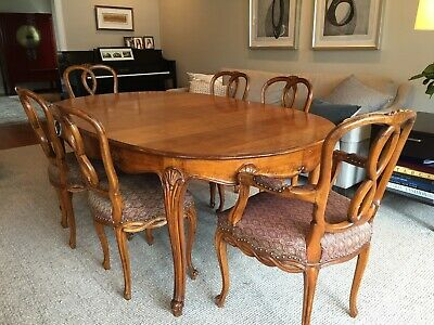 Dining Room Table Beautiful Italian Carved C1900 French Provincial Style