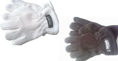 CHILDS THINSULATE WARM THICK FLEECE GLOVES KIDS BOYS GIRLS age 4 - 6 yrs NEW