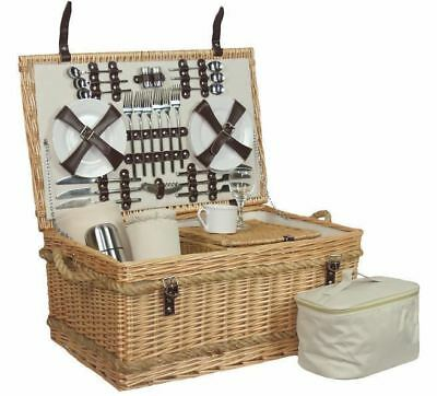 Deluxe Fully Fitted 2 Person Traditional Picnic Basket