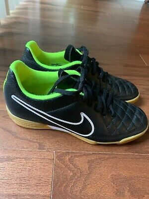 6c32a5773 Nike Tiempo Rio II Men's Black Indoor Soccer Shoes Size 6.5 EUC 631523-017