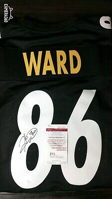 a8fceb50a Jerseys Hines Ward Autographed Pittsburgh Steelers Custom Black Football  Jersey JSA COA