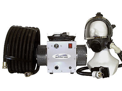 Supplied fresh Air Respirator breathing full facemask