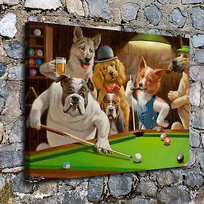 """12""""x16""""Dog Playing Cards Posters HD Canvas Prints Home Decor Wall art picture"""