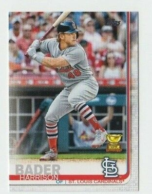 (7) Harrison Bader 2019 TOPPS SERIES 1 ROOKIE CUP LOT #97 ST. LOUIS CARDINALS