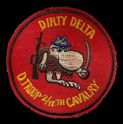US Army D Troop 2nd Sq 17th Cavalry Dirty Delta Version 2 Vietnam Patch S-6