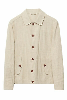 GANT Rugger Men's Dry Sand Linen Coach Jacket 79003 $275 NWT