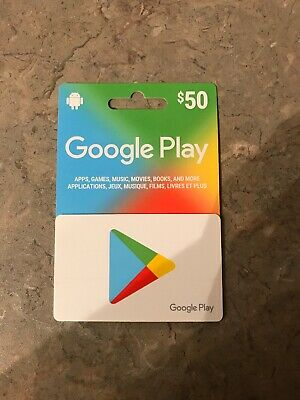 Google Play Gift Cards 50$ Canadian