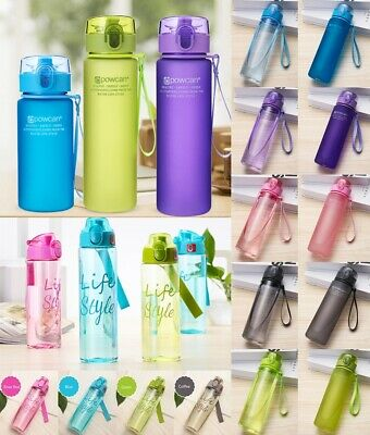 UK Kids Stuents Small Mouth Drinking Water Bottle Adult Sports Bottle 400-700 ML