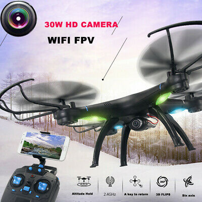 FPV RC Drone with HD WiFi Camera Live Feed 2.4GHz 4CH 6-Axis Gyro Quadcopter RTF