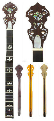 5 String Banjo Neck Maple wood Right Hand HEART MOP abalone inlay NBN byCC