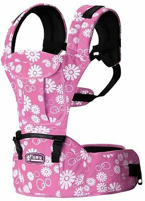 fd5b9af2115 Baby Carrier Bags Hip seat Baby Sling Toddler Rider Wrap Canvas Backpack  Pink