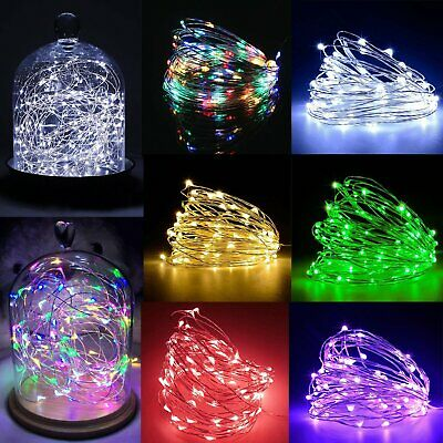 20 /30 /100 LED Batter Powered Fairy String Lights Plug in Mains Micro Wire Xmas