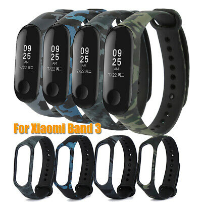Camouflage Silicone Bracelet Strap Replacement Watchband For Xiaomi Mi Band 3.