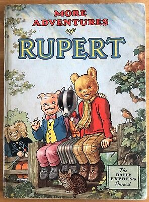 RUPERT ANNUAL 1953 ORIGINAL Inscribed NOT Price Clipped Reinforced spine VG