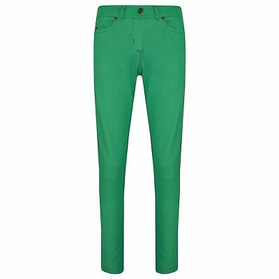 Kids Girls Skinny Jeans Green Stretchy Denim Jeggings Fit Pants Trousers 5-13 Yr