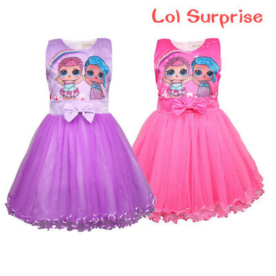 UK Kids LoL Surprise Doll Girls Princess Dress Party Pageant Holiday festival
