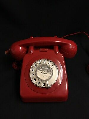 Vintage Retro Bright Red Dial Telephone
